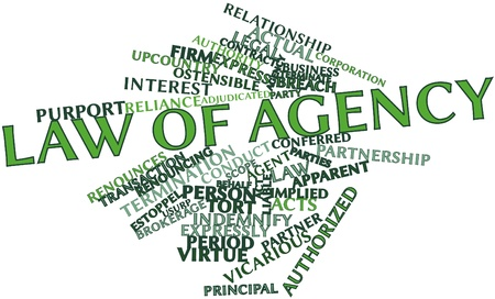 appoints: Abstract word cloud for Law of agency with related tags and terms