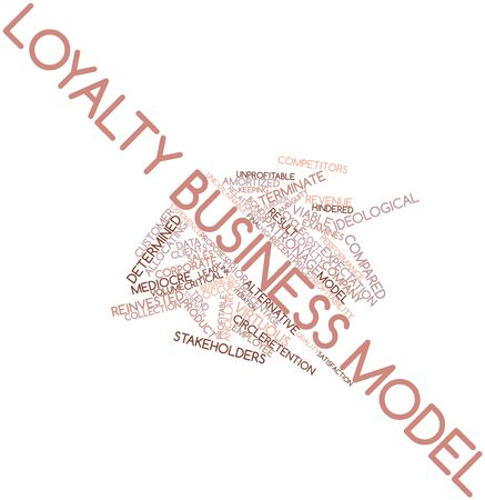 proposes: Abstract word cloud for Loyalty business model with related tags and terms