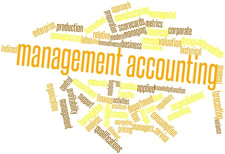 Abstract word cloud for Management accounting with related tags and terms Banco de Imagens