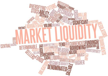regimes: Abstract word cloud for Market liquidity with related tags and terms