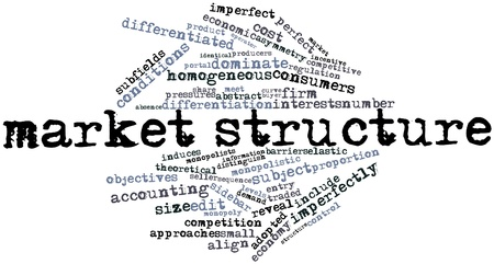 extent: Abstract word cloud for Market structure with related tags and terms Stock Photo