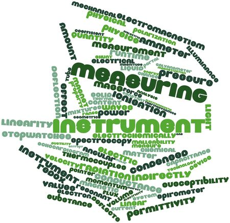 Abstract word cloud for Measuring instrument with related tags and terms