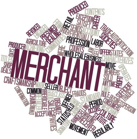 Abstract word cloud for Merchant with related tags and terms photo