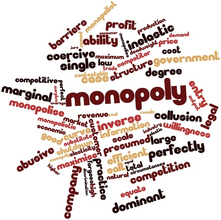 marginal: Abstract word cloud for Monopoly with related tags and terms
