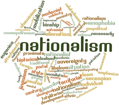 Abstract word cloud for Nationalism with related tags and terms photo