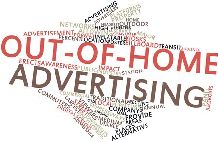 encyclopedic: Abstract word cloud for Out-of-home advertising with related tags and terms