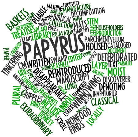 cataloged: Abstract word cloud for Papyrus with related tags and terms