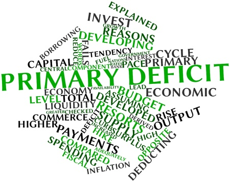 Abstract word cloud for Primary deficit with related tags and terms Stock Photo - 16467903