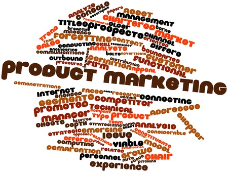 differs: Abstract word cloud for Product marketing with related tags and terms