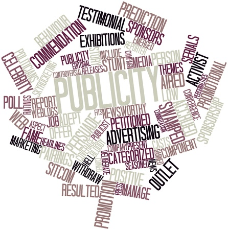 Abstract word cloud for Publicity with related tags and terms Stock Photo - 16468063