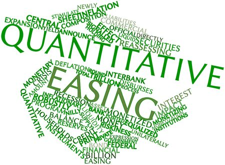 Abstract word cloud for Quantitative easing with related tags and terms