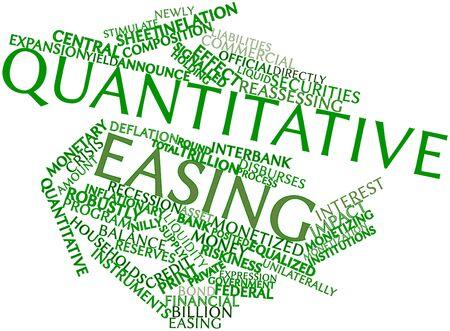 compromisos: Nube palabra abstracta para relajaci�n cuantitativa con las etiquetas y t�rminos relacionados
