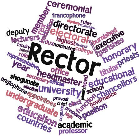 Abstract word cloud for Rector with related tags and terms Stock Photo - 16467980