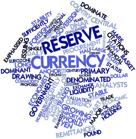 Abstract word cloud for Reserve currency with related tags and terms photo