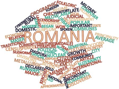 formers: Abstract word cloud for Romania with related tags and terms