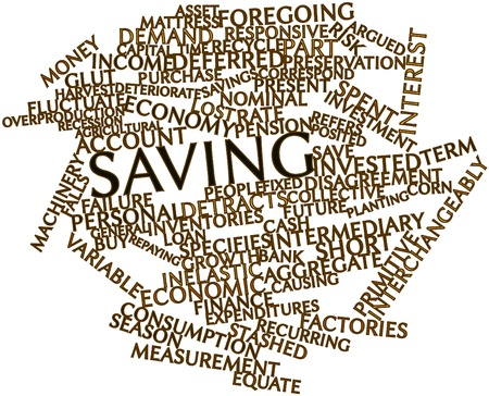 Abstract word cloud for Saving with related tags and terms Stock Photo - 16468087