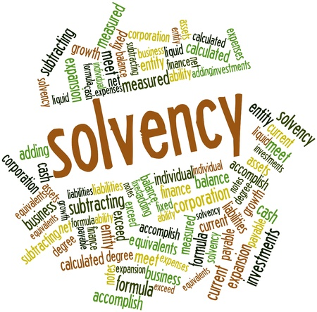 Abstract word cloud for Solvency with related tags and terms Stock Photo - 16468067