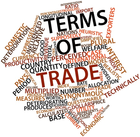 perceived: Abstract word cloud for Terms of trade with related tags and terms