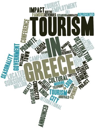 cornerstone: Abstract word cloud for Tourism in Greece with related tags and terms
