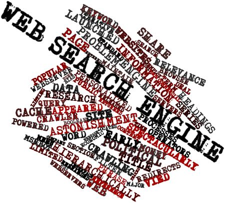 returned: Abstract word cloud for Web search engine with related tags and terms Stock Photo