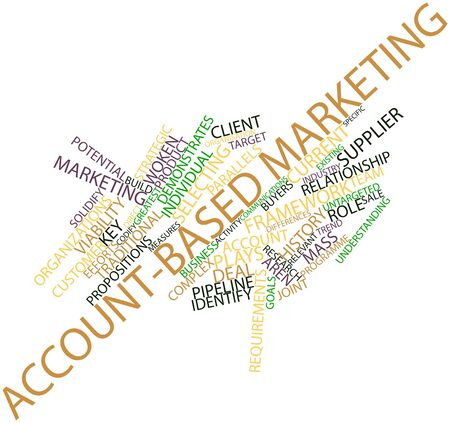 solidify: Abstract word cloud for Account-based marketing with related tags and terms Stock Photo