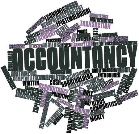 Abstract word cloud for Accountancy with related tags and terms photo