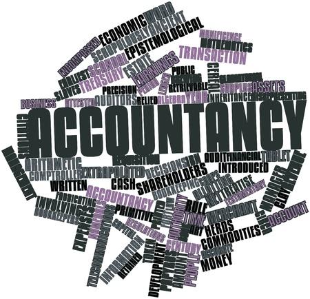 retained: Nube de palabras Resumen de Contabilidad con las etiquetas y t�rminos relacionados Foto de archivo
