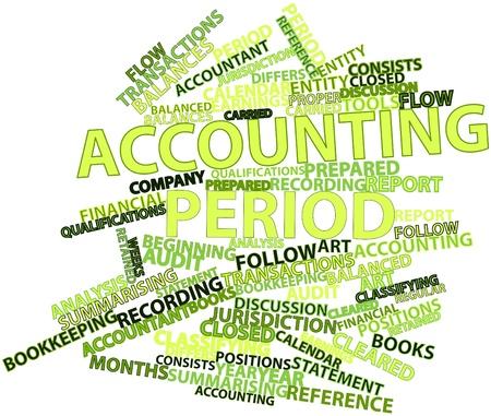 retained: Nube palabra abstracta para Per�odo contable con las etiquetas y t�rminos relacionados
