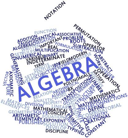 transpozycji: Chmura streszczenie słowo algebry z powiązanych tagów oraz warunków