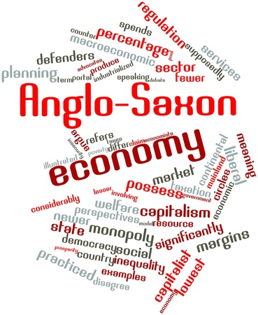 considerably: Abstract word cloud for Anglo-Saxon economy with related tags and terms