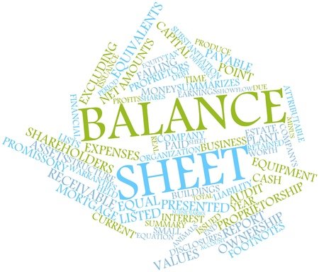 receivable: Abstract word cloud for Balance sheet with related tags and terms