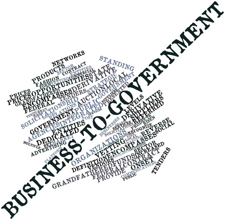 Abstract word cloud for Business-to-government with related tags and terms