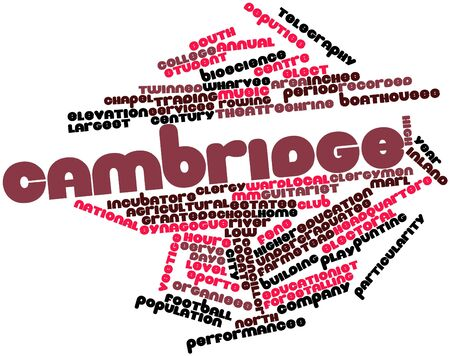 tonne: Abstract word cloud for Cambridge with related tags and terms