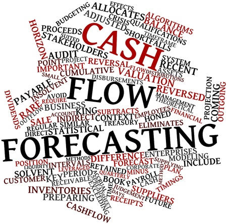 Abstract word cloud for Cash flow forecasting with related tags and terms photo