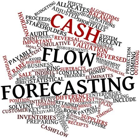 umschwung: Abstrakte Wortwolke f�r Cash-Flow-Prognosen mit verwandten Tags und Begriffe