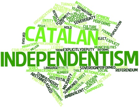 turnout: Abstract word cloud for Catalan independentism with related tags and terms