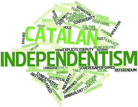 autonomic: Word cloud astratto per indipendentismo catalano con tag correlati e termini Archivio Fotografico