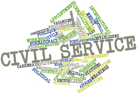 municipalities: Abstract word cloud for Civil service with related tags and terms