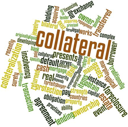 transferred: Abstract word cloud for Collateral with related tags and terms