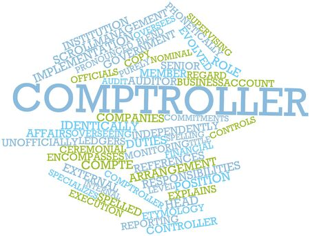 specializes: Abstract word cloud for Comptroller with related tags and terms