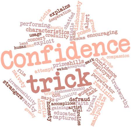explocion: Nube palabra abstracta para el truco confianza con etiquetas y términos relacionados