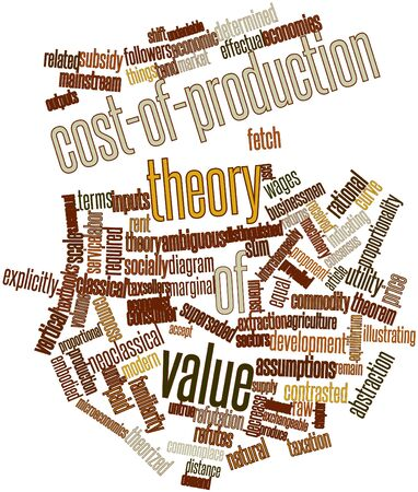 marginal: Abstract word cloud for Cost-of-production theory of value with related tags and terms