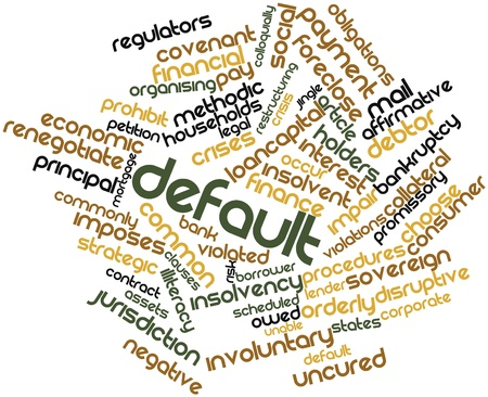 Abstract word cloud for Default with related tags and terms Stock Photo - 16489089
