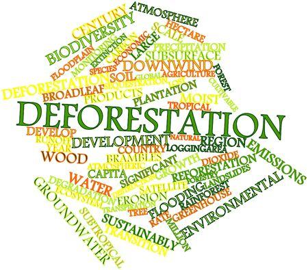 deforestacion: Nube palabra abstracta por Deforestación con etiquetas y términos relacionados