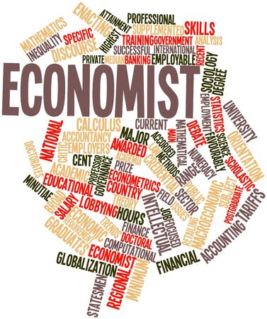 Abstract word cloud for Economist with related tags and terms Stock Photo - 16489279