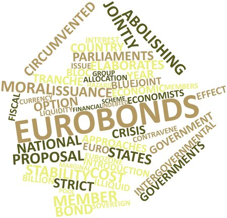 Abstract word cloud for Eurobonds with related tags and terms