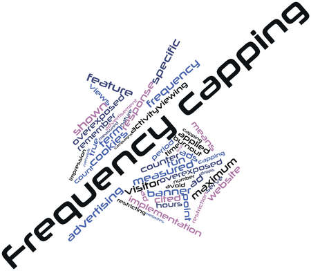 capping: Abstract word cloud for Frequency capping with related tags and terms