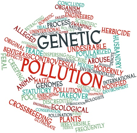 reputed: Abstract word cloud for Genetic pollution with related tags and terms
