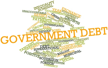implicit: Abstract word cloud for Government debt with related tags and terms
