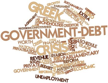 parliaments: Word cloud astratto per governo greco crisi del debito con tag correlati e termini Archivio Fotografico
